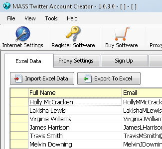 MASS Twitter Account Creator Software